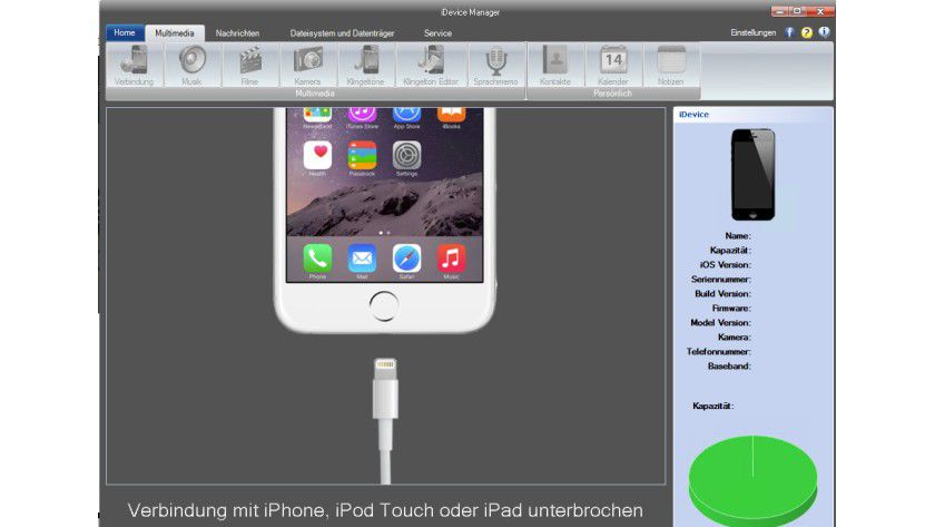 Der iDevice Manager bietet umfassenden Zugriff auf die Daten von iPhone und Co.