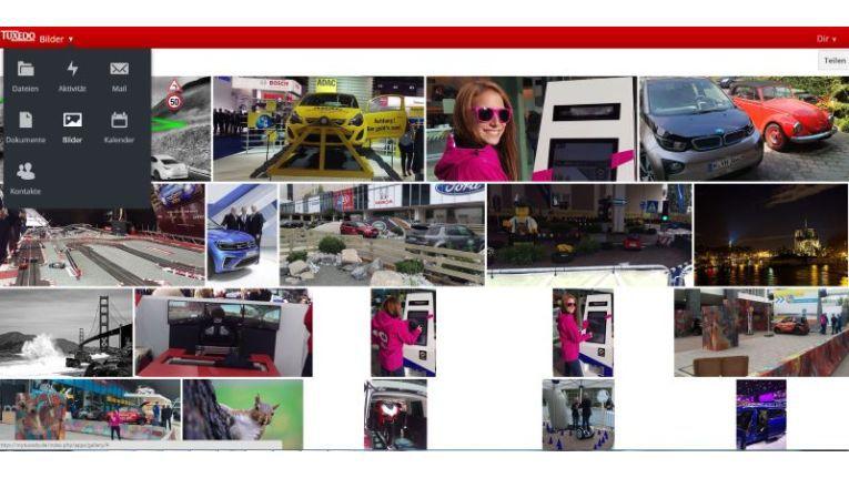 Der Screenshot zeigt die Foto-Verwaltung des relativ jungen deutschen Cloud-Dienstes MyTuxedo.