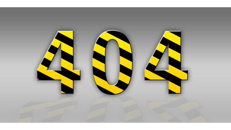 Der 404-Error kommt mit am häufigsten vor.