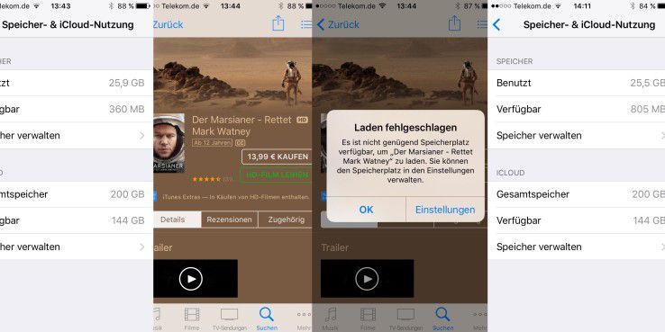 Klingt komisch, funktioniert aber: Wenn Ihr iPhone zum Bersten voll ist, dann leihen Sie sich einfach einen Film.