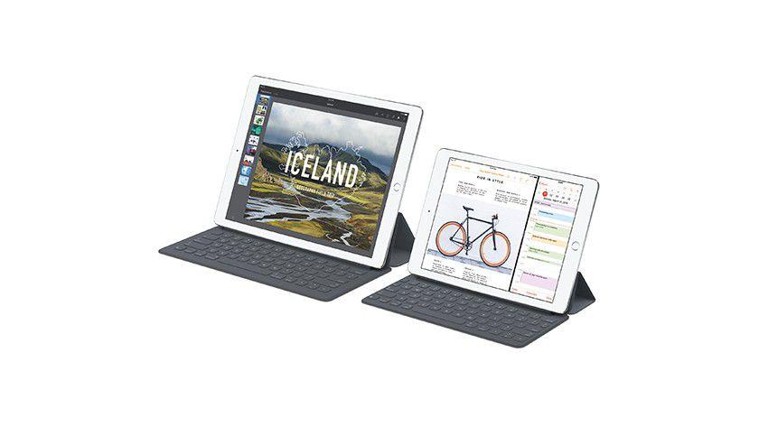 iPad Pro mit Tastaturhuellen - beide nicht mit deutscher Tastenanordnung