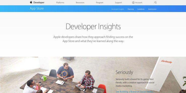 Entwickler lernen in vier Bereichen, was eine gute App ausmacht.