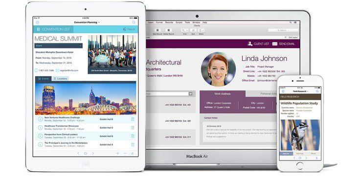 Die App-Entwicklungsplattform Filemaker ist in Version 15 verfügbar.