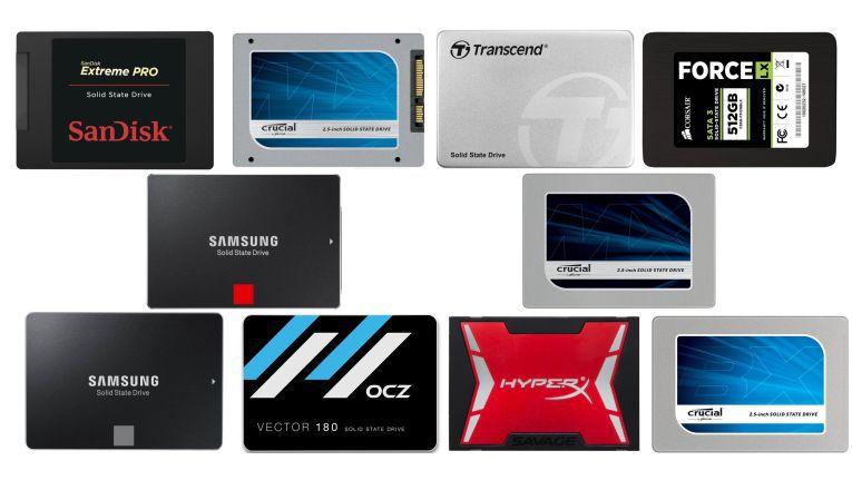 Test: SSD-Festplatten mit 480 bis 512 GB im Vergleich