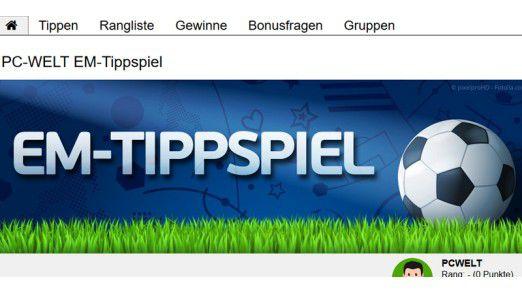 Beim PC-WELT EM-Tippspiel warten Preise im Gesamtwert von knapp 7000 Euro auf die Gewinner.