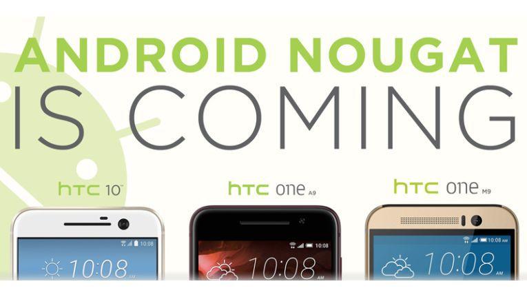 HTC hat Android-Nougat-Updates für die drei Smartphones HTC 10, HTC One A9 und HTC One M9 angekündigt.