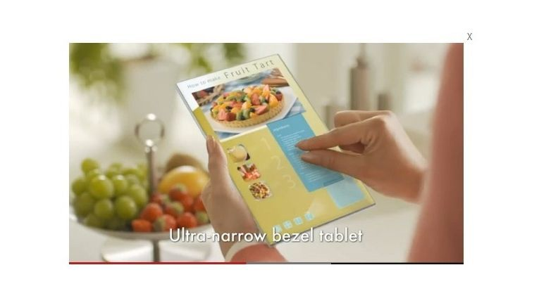 Fast rahmenlos und so scharf wie ein Blatt Papier könnten Tablet-PCs künftig dank IGZO-Panels sein.