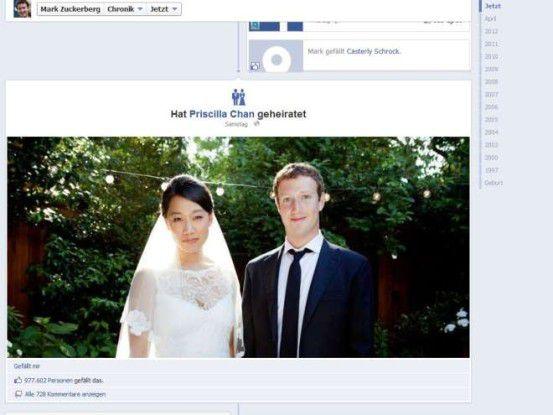 Mark Zuckerberg und seine Frau Priscilla haben - wie übrigens auch Donald Trump und fast alle Amerikaner - ausländische Vorfahren.
