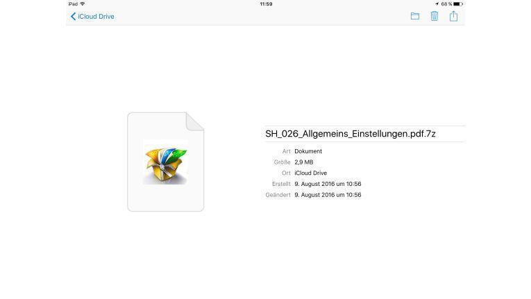 Auch unter iOS können Sie 7Zip-Dateien öffnen. Dazu benötigen Sie allerdings die 1,99 Euro teure App Zip-Browser.