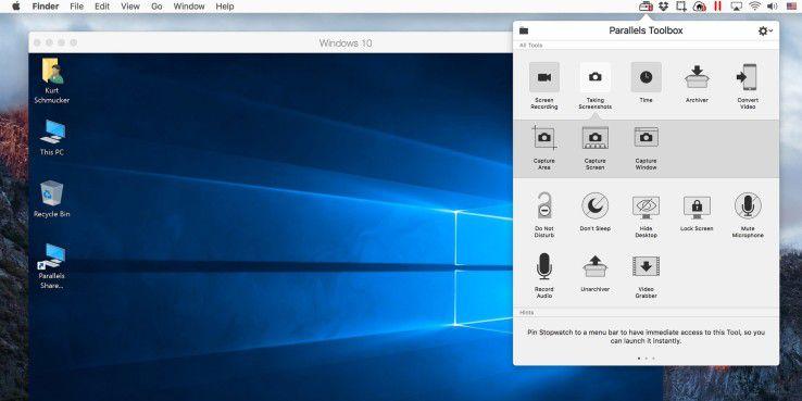 Die neue Version von Paralles Desktop bietet unter anderem eine neue Toolbox.