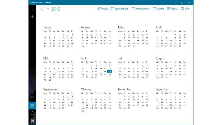 Schritt 2 - Optimale Kalenderansicht wählen
