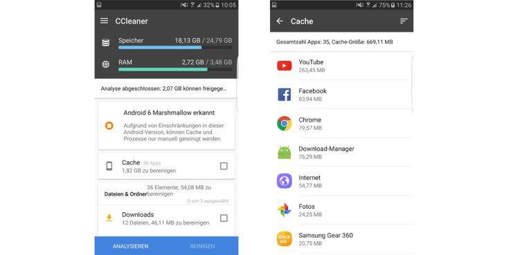 Der CCleaner reinigt Ihren Speicher und macht Ihr Handy wieder schnell.