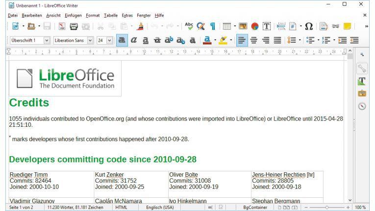 Der inoffizielle Open-Office-Nachfolger Libre Office versorgt Anwender mit zahlreichen Büro-Tools zur Textbearbeitung und Tabellenkalkulation.