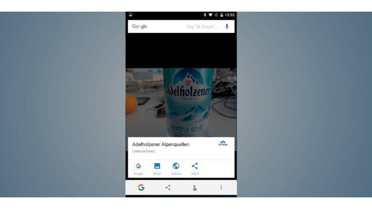 Now On Tap durchsucht nicht nur Suchergebnisse, Artikel und Websites nach Stichwörtern, sondern analysiert auch Fotos nach Begriffen.