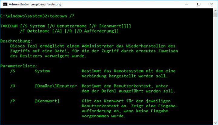 """Fast alle Tools für die Kommandozeile zeigen Hilfetexte an. Dazu rufen Sie ein Tool ohne Parameter auf oder hängen ein """"/?"""" an."""