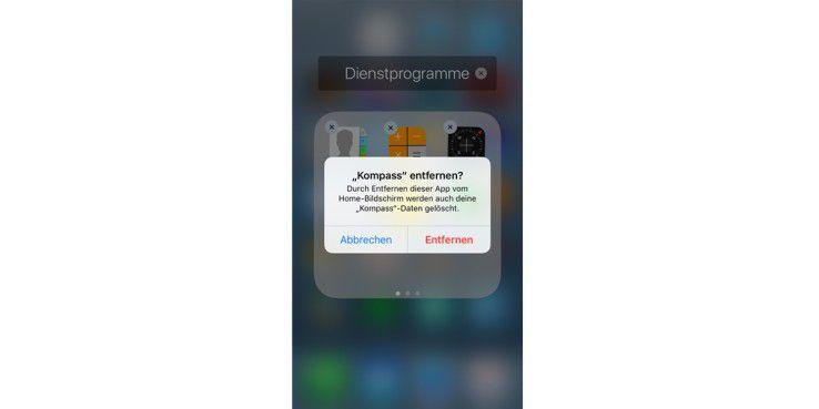 Sie können jetzt auch Stock-Apps vom iPhone 7 entfernen.