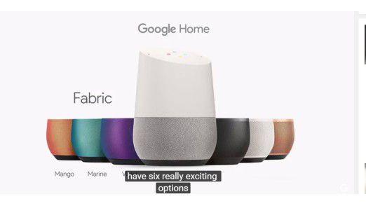 Google Home in unterschiedlichen Farben