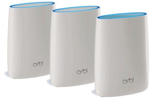 Orbi-Kit von Netgear: Dank Tri-Band-WLAN bietet Orbi laut Hersteller schnellstes WLAN im gesamten Zuhause und auf dem ganzen Grundstück.