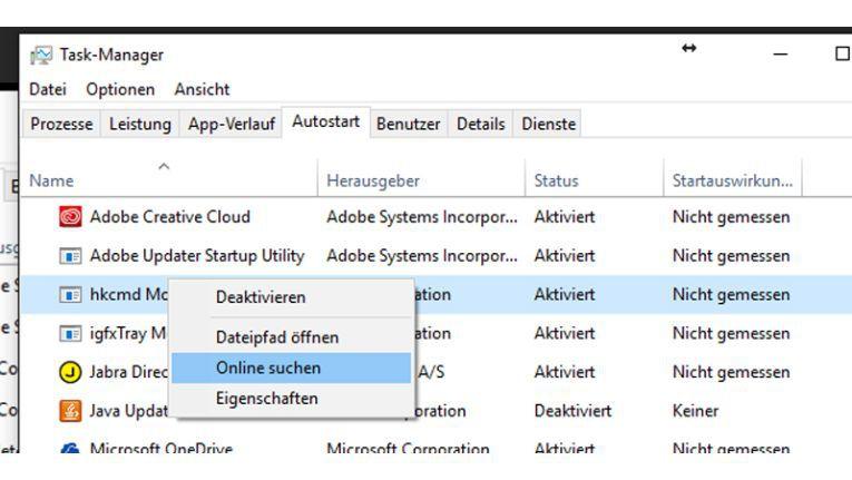 Autostart-Fenster in Windows 10