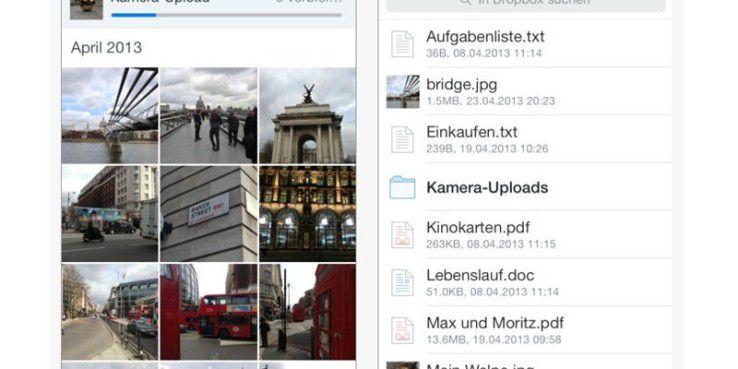 Dropbox für iOS bekommt neue Funktionen.