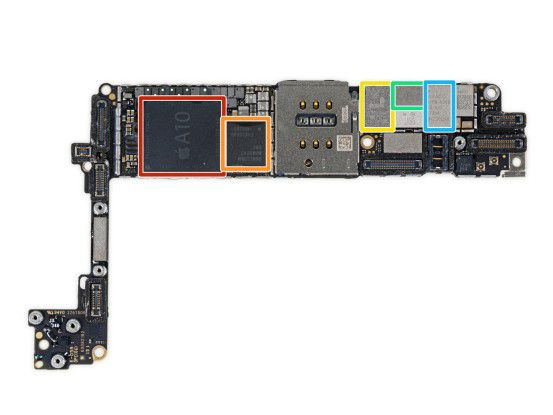 Im iPhone-7-Modell von iFixit fanden die Ingenieure das Qualcomm-Modem.