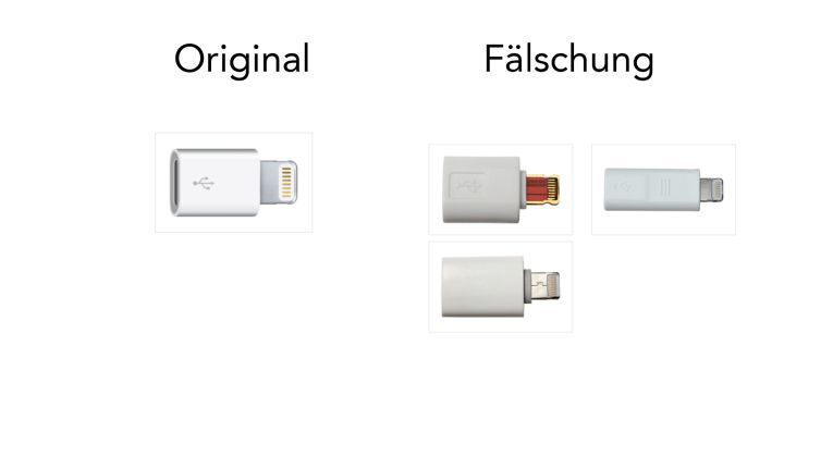 Lightning auf Micro-USB-Adapter