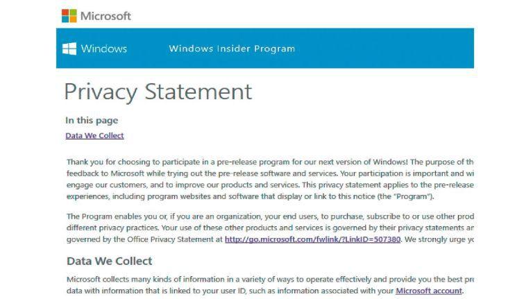 Die Datenschutzerklärung des Insider-Programms hat es in sich: Microsoft sammelt in den Previews so viele Daten, dass Sie die Vorabversionen von Windows nur zu Testzwecken verwenden sollten.