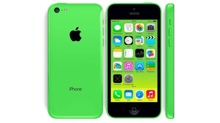 Das iPhone 5C von 2013 ist leider nur der Farbe nach grün.
