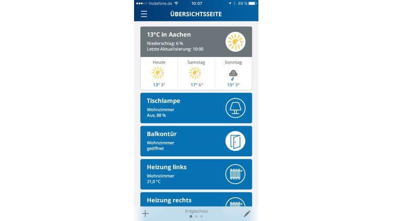 Smart steuern: Per App haben Sie alle Smart-Home-Komponenten im Blick und können über Regeln und Szenarien bestimmen, wie sie sich verhalten sollen.