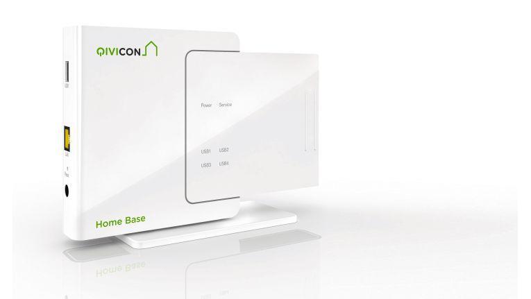 Von einer Basisstation – wie hier für das Qivicon-System – steuern Sie über das Heimnetz oder per Internet die daran angeschlossenen Smart-Home-Komponenten.
