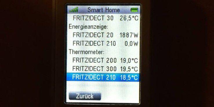Mit dem Fritzfon überwachen und bedienen Sie das Smart Home ebenfalls
