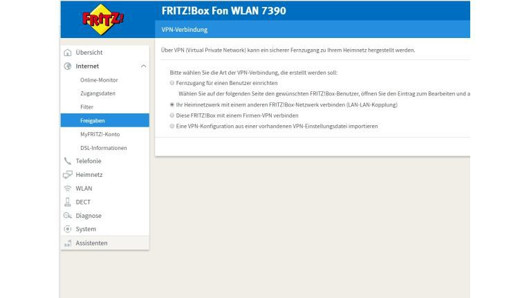 Mit VPN Assistent lassen sich VPN-Verbindungen zu Fritzboxen schnell und einfach einrichten