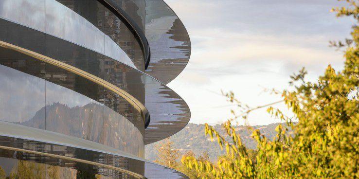 Die technische Herausforderung des gebogenen Glases löste die Firma Seele aus Gersthofen bei Augsburg zur Zufriedenheit Apples