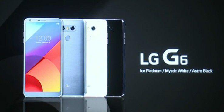 Das LG G6 ist in drei Farben erhältlich