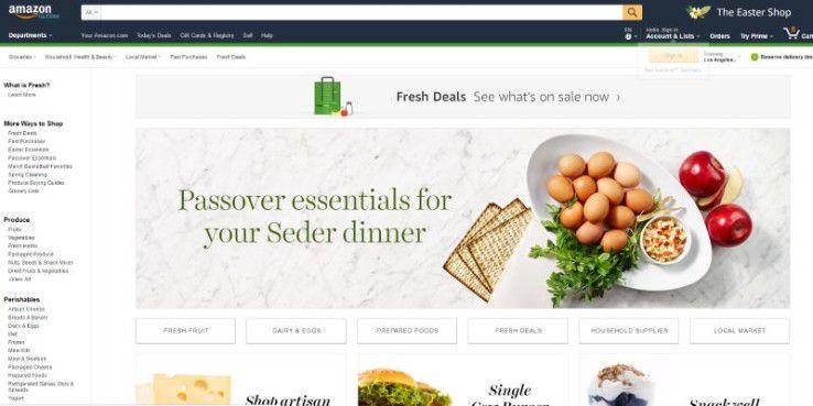 Amazon Fresh: Amazon liefert bald frische Lebensmittel
