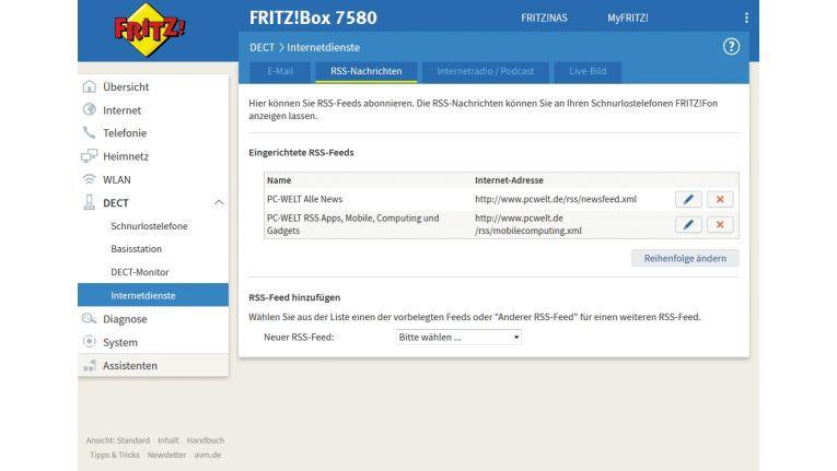 Schritt 6: Internetdienste auf dem Fritz Fon
