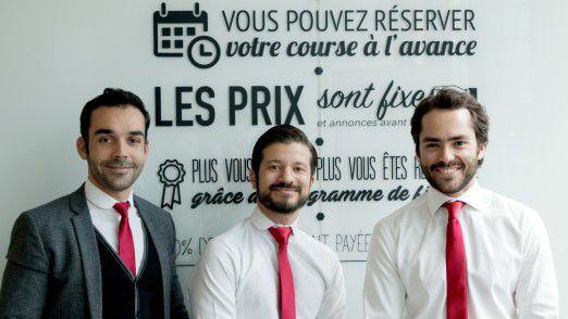 Daimler erwirbt die Mehrheit an Chauffeur Privé: Omar Benmoussa, Othmane Bouhlal, Yan Hascoet (von links nach rechts)