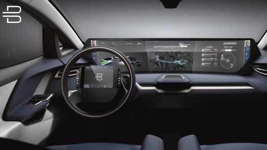 So stellt sich der Autobauer Byton ein modernes Interieur vor.