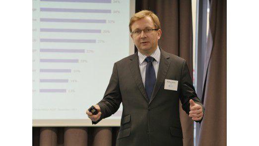IDC Analyst Matthias Zacher stellte die Highlights der neuen IDC Studie zum Rechenzentrum der Zukunft vor.