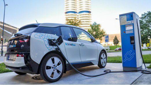 Der elektrische BMW i3 ist in der DriveNow-Flotte verfügbar.