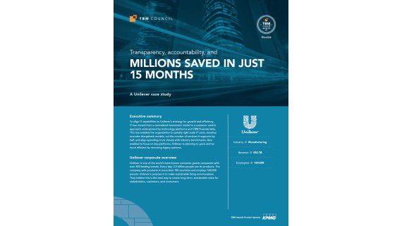 A Unilever Case Study: Transparency, accountability, and millions saved in just 15 months - Foto: Apptio