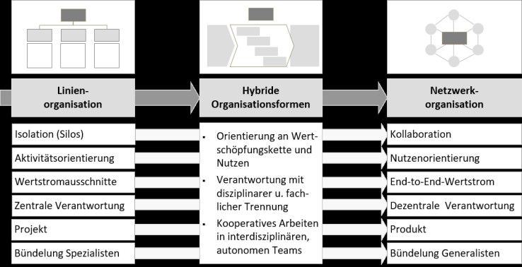 Entwicklung der IT-Organisation von einer Linienorganisation hin zu einer Netzwerk-Organisation