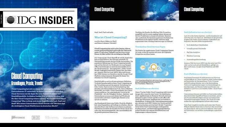"IDG Insider ""Cloud Computing: Grundlagen, Praxis, Trends"""