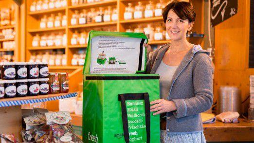 Über Amazon Fresh liefern auch örtliche Anbieter ihre Produkte, wie beispielweise das Gewürzwerk am Viktualienmarkt von Pia Feuermeier.