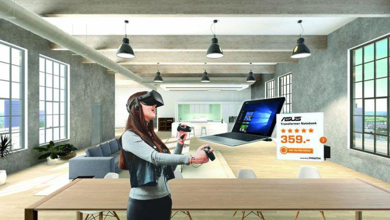 """Neben einer Raumstation auf dem """"Planet Saturn"""", ist das """"Saturn Loft"""" die zweite VR-Einkaufsumgebung"""