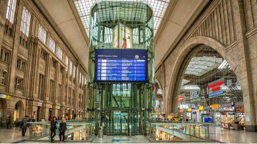 Der Leipziger Hauptbahnhof umfasst 30.000 Quadratmeter Verkaufsfläche.