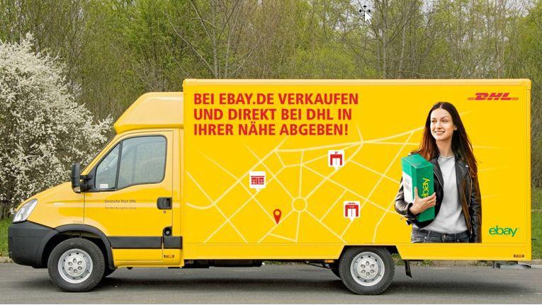 In Berlin und München gehen 60 gemeinsamen von DHL und eBay gebrandete Zustellfahrzeuge auf die Straßen