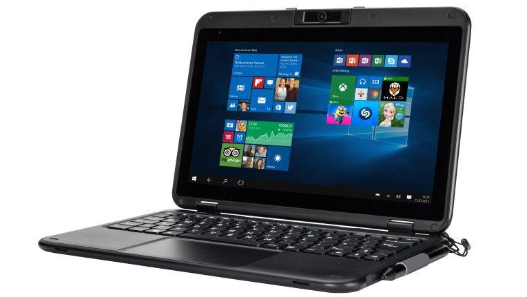 Das TRAVELline C11W1 bietet Bluechip ein robustes Semi-Rugged Convertible Notebook für den Schulalltag an.