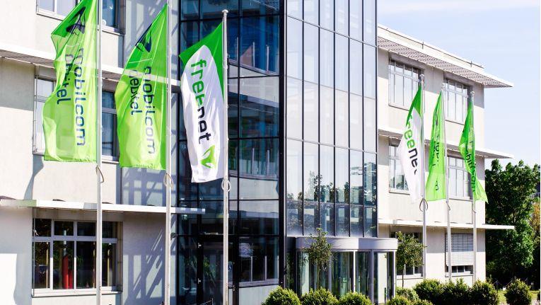 Der Firmensitz von Freenet in Büdelsdorf in Schleswig-Holstein
