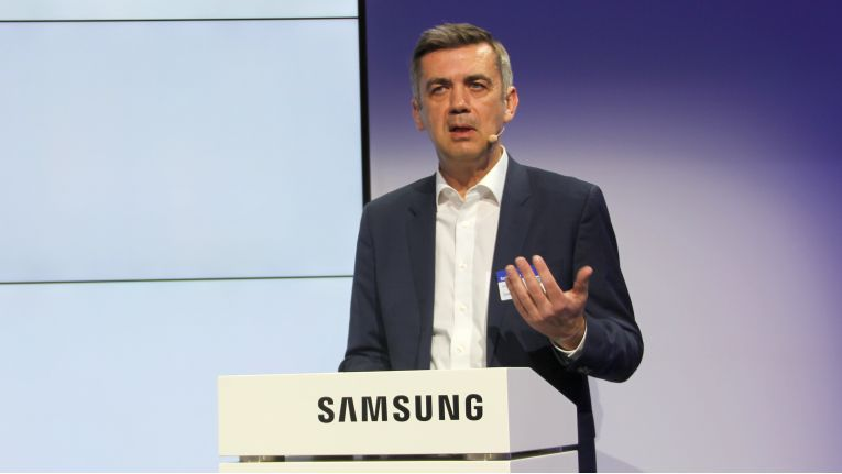 Sascha Lekic, Director IM B2B bei Samsung will mit passenden Mobile-Produkten das B2B-Segment bei den Koreanern voranbringen.